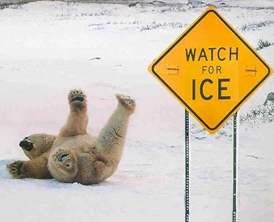 Slips on ice